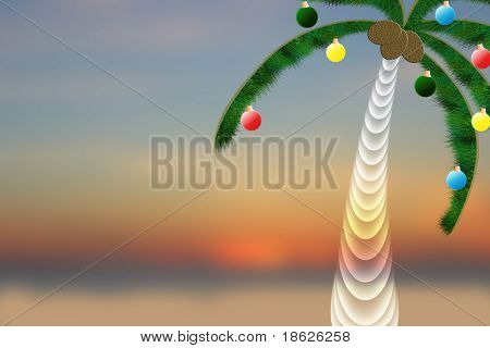 Christmas Palm Tree Background