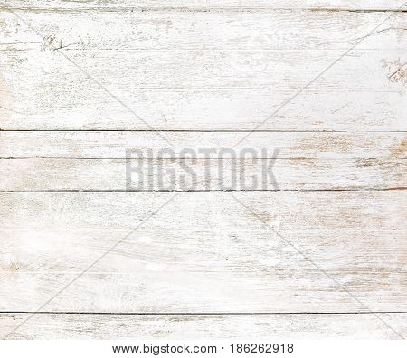 Vintage white wood background. old white color paint on wood texture