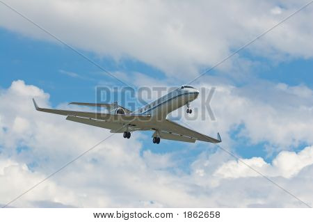 Businessjet On About To Land