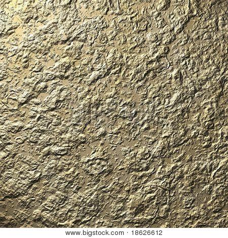 Gold Rock Rendering