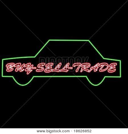 Buy, Sell, Trade, Neon Light