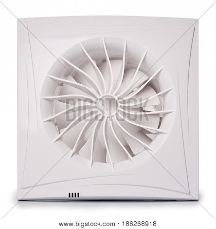 Air exhaust fan on white background.