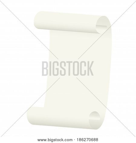 Scroll on a white background. Vector illustration.