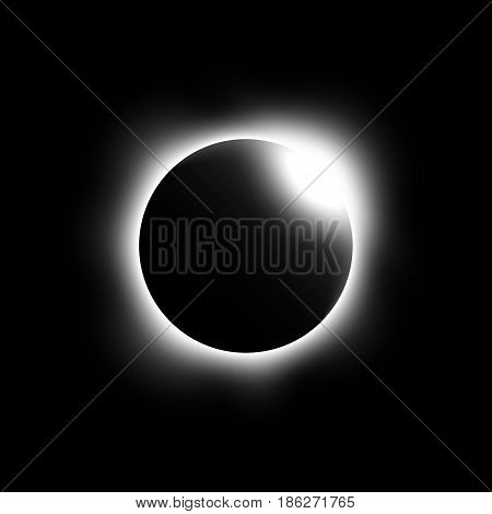 Eclipse of the sun . Vector .