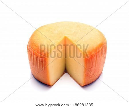 Cheese isolated over white background in studio