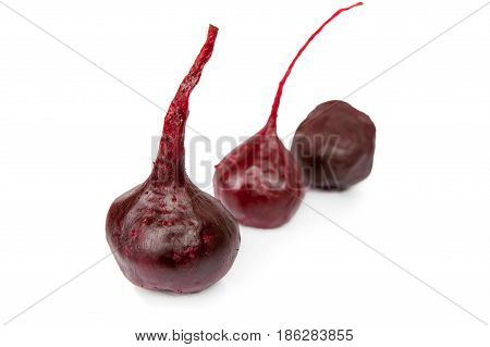 Boiled beetroot isolated on the white background