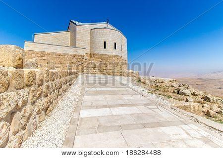 The Memorial church of Moses at Mount Nebo Jordan