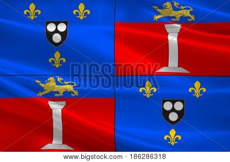 Flag of Antony is a subprefecture of the Hauts-de-Seine department and the seat of the arrondissement of Antony France. 3d illustration