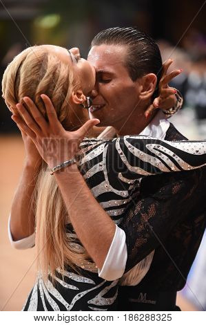 Dance Latin Couple In A Dance Pose
