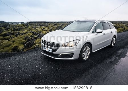 Silver Gray Peugeot 508 Sw