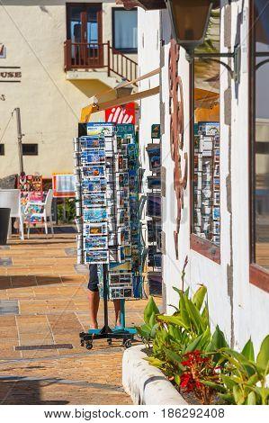 Playa Blanca, Lanzarote, 04 April, 2017: Promenade In Marina Rubicon In Playa Blanca, Lanzarote, Can