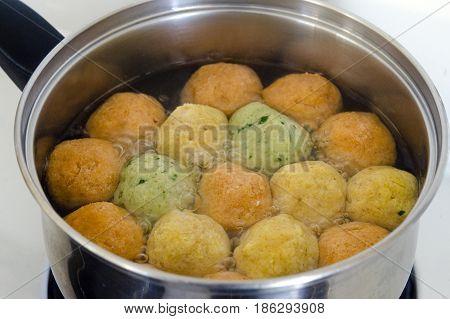 Passover Jewish Holiday  Food - Matzah Balls Soup