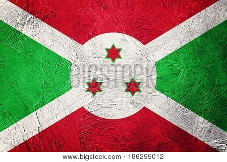 Grunge Burundi Flag. Burundi Flag With Grunge Texture.