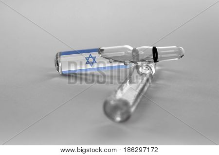 Israel Health Care. Government Healthcare. Israel Ampule.