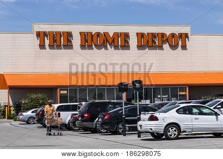 Indianapolis - Circa May 2017: Home Depot Location. Home Depot is the Largest Home Improvement Retailer in the US VI