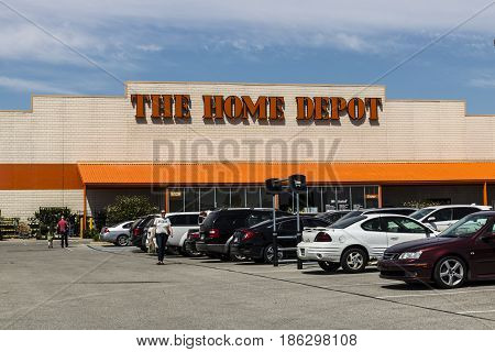 Indianapolis - Circa May 2017: Home Depot Location. Home Depot is the Largest Home Improvement Retailer in the US V