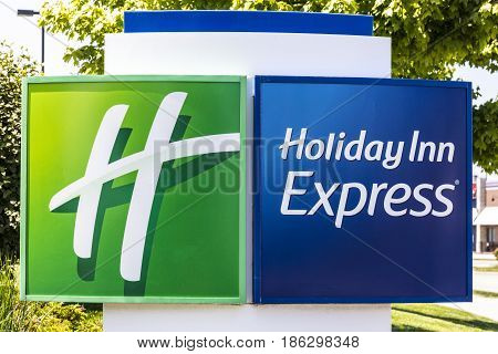 Indianapolis - Circa May 2017: Holiday Inn Express Location. Holiday Inn is a Subsidiary of InterContinental Hotels Group VI