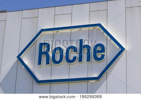 Indianapolis - Circa May 2017: Roche Diagnostics U.S. Headquarters. Roche Diagnostics is a Global Leader in Healthcare V