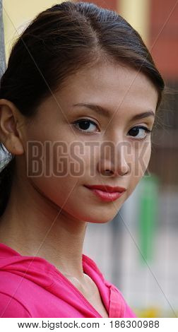 A Portrait of a Peruvian Female Teenager