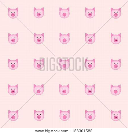 cutie pig with pink background. tile background. vector. illustration. basic Red Green Blue. graphic design.