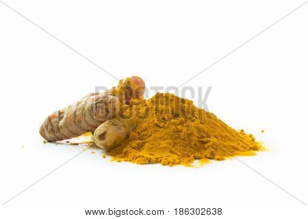 Turmeric Roots And Turmeric Powder
