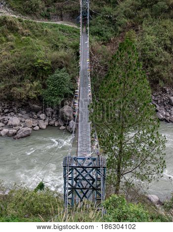 Suspension Bridge Top View