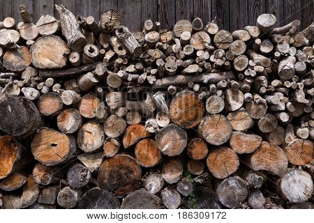 Wooden timber at outfoor