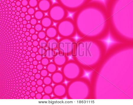 Fractal image depicting many abstract champagne bubbles.