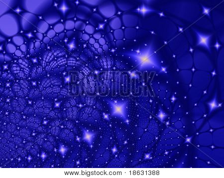 Fractal image of an abstract star galaxy or constellation. poster