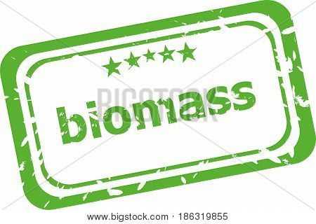 Biomass Grunge Rubber Stamp Isolated On White Background