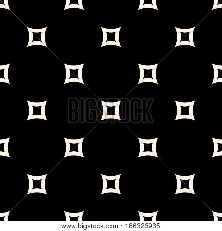 Vector seamless pattern. Simple minimalist monochrome geometric texture with perforated rounded squares. Abstract dark repeat background. Modern design for prints, home decor, textile, furniture, fabric, digital, web