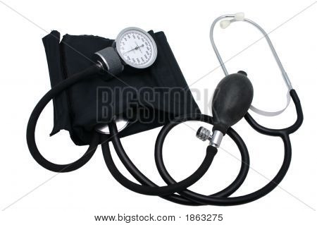 Blood Pressure Cuff With Analog Meter