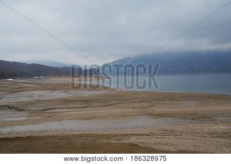 Mavrovo lake, the artificial lake in Macedonian republic