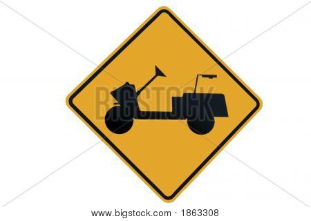 Golfer Cart Crossing