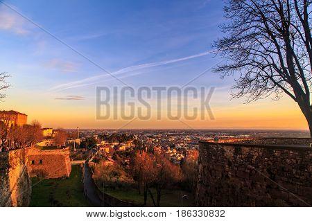 Colorful Sunset In Bergamo