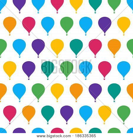 Retro seamless travel pattern of color balloons