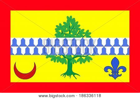 Flag of Le Raincy is a sub-prefecture of the Seine-Saint-Denis department and the seat of the Arrondissement of Le Raincy France. Vector illustration