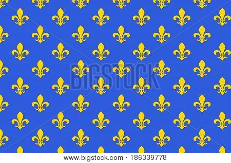 Flag of Saint-Denis is a subprefecture of the department of Seine-Saint-Denis being the seat of the arrondissement of Saint-Denis France. Vector illustration