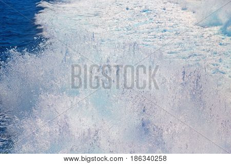 Movement Abstract Tide  Foam And Froth In The Sea Of Mediterranean Greece