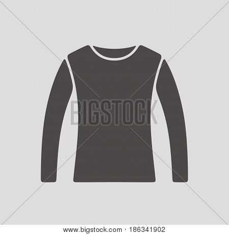 Vector illustration of jumper icon on background
