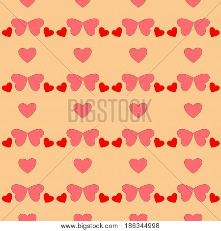 Heart couple seamless pattern. Fashion graphic background design. Modern stylish abstract texture. Colorful template for prints textiles wrapping wallpaper website etc. Vector illustration