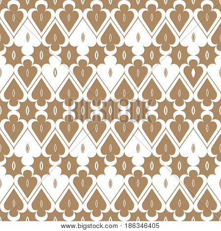 Abstract geometric pattern with trigon. A seamless background. Brown and white texture.