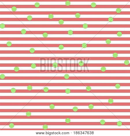 Striped pink and circle seamless pattern. Fashion graphic background design. Modern stylish abstract texture. Colorful template for prints textiles wrapping wallpaper website. Vector illustration