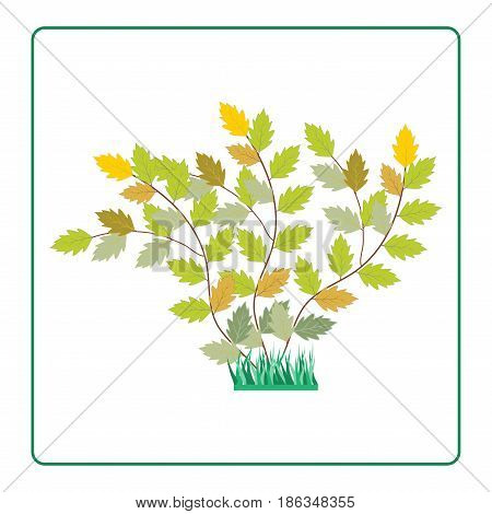 Twig colorful in frame. Fashion graphic background design. Modern stylish abstract texture. Color template bush for prints textiles wrapping wallpaper website. Design element. Vector illustration