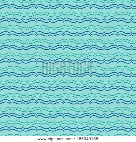 Wavy line seamless pattern. Fashion graphic background design. Modern stylish abstract texture. Colorful template for prints textiles wrapping wallpaper website etc. illustration