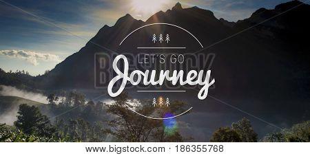 Journey Travel Explore Wanderlust Word Graphic