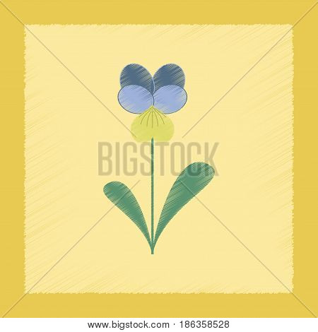 flat shading style Illustrations of plant Viola