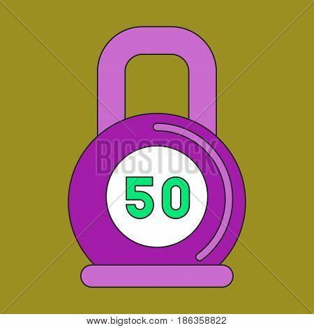 flat icon on stylish background Weight sport