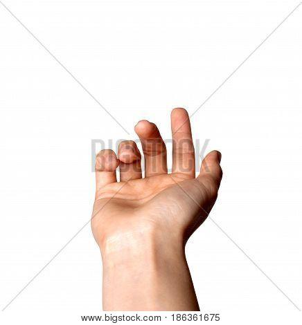 Female index finger crooked reckoning