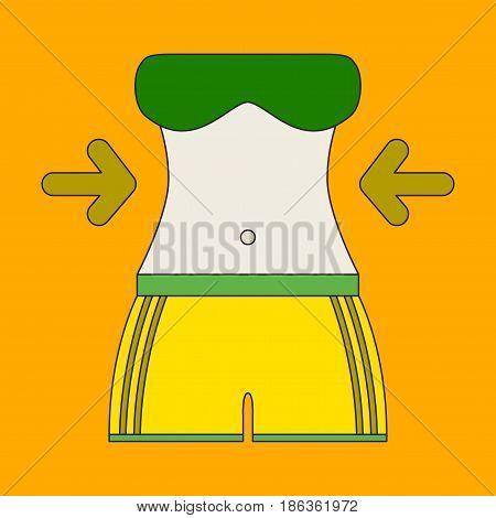 Icon in flat design Woman body diet